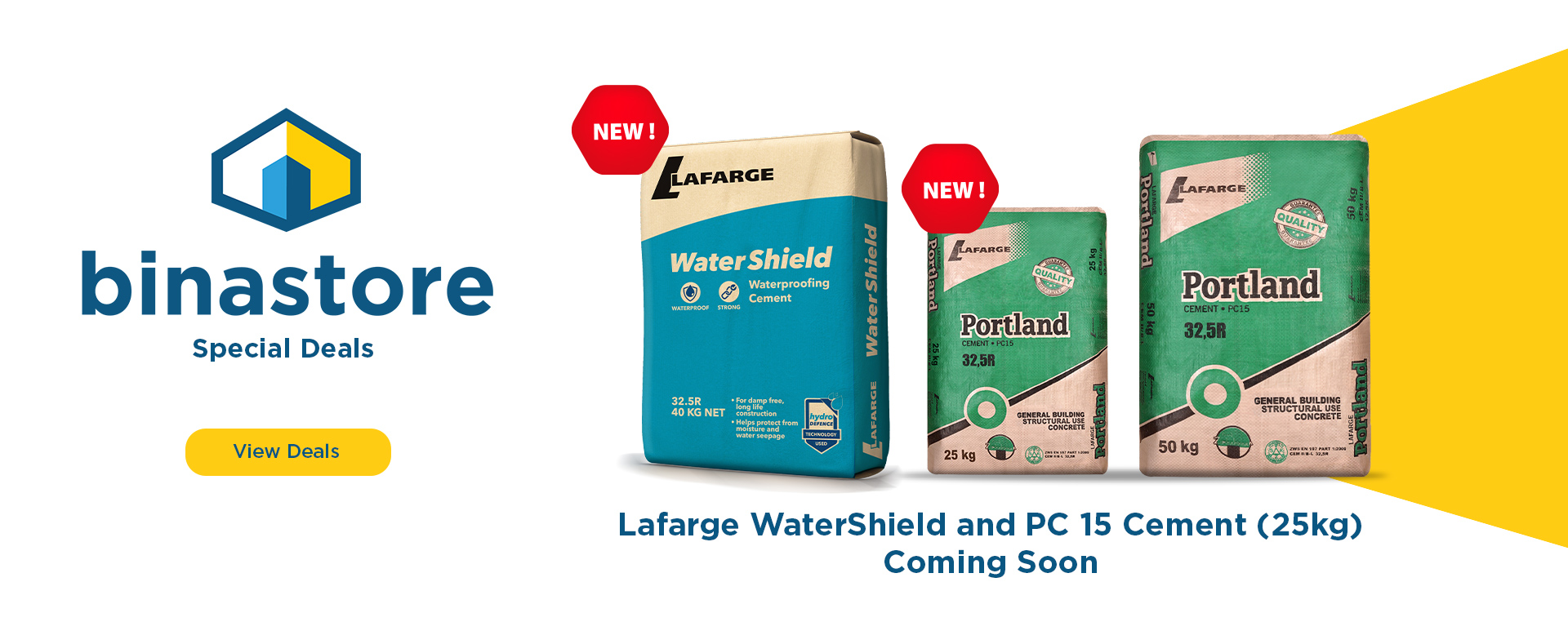 LaFarge Watershield and PC 15 Cement in 25kgs